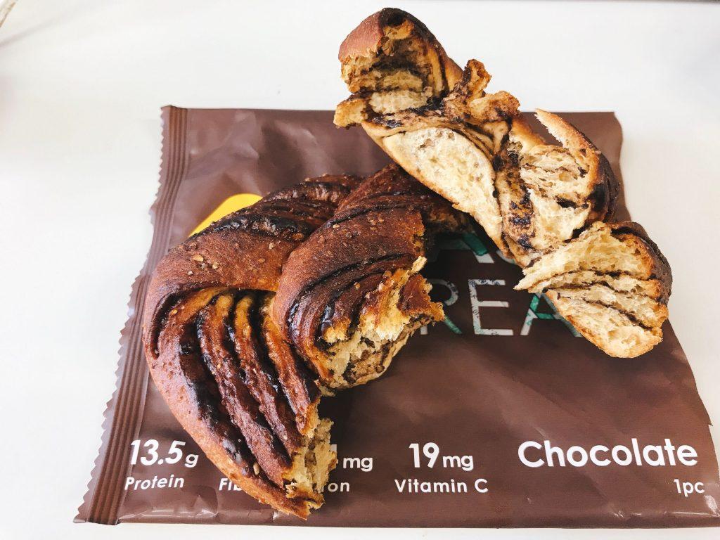 チョコ味のBASE BREADの断面