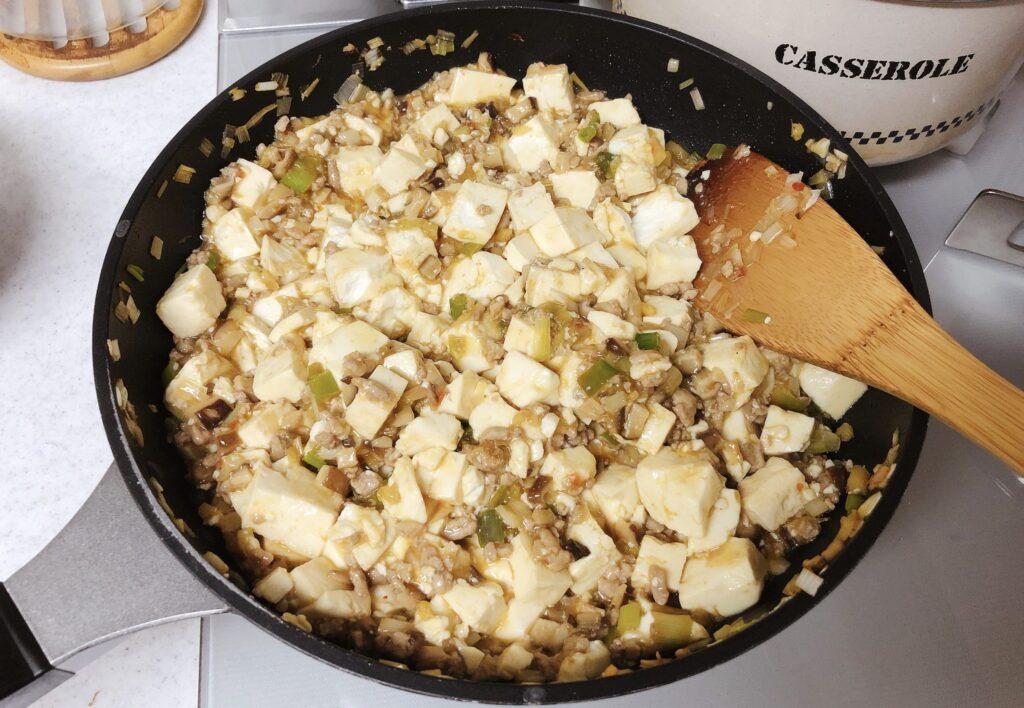 麻婆豆腐の完成