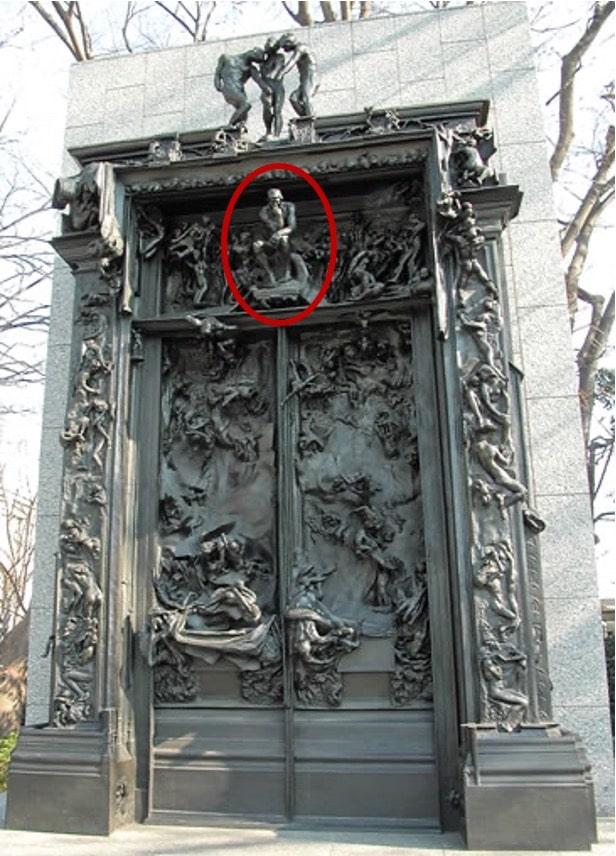 『地獄の門』の中の『考える人』