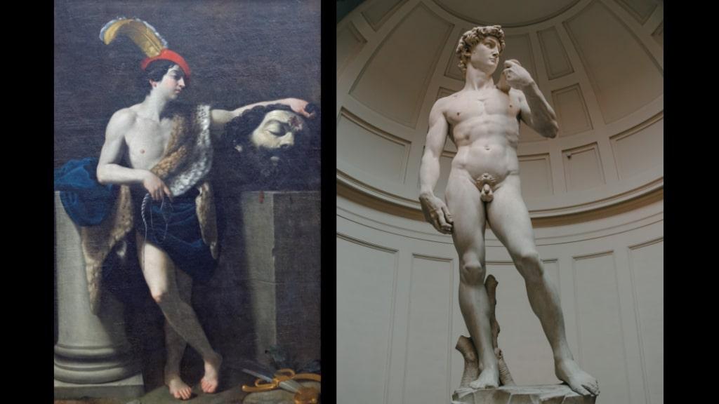 レーニとミケランジェロのダヴィデの比較