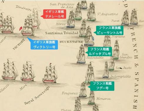 トラファルガーの海戦図詳細