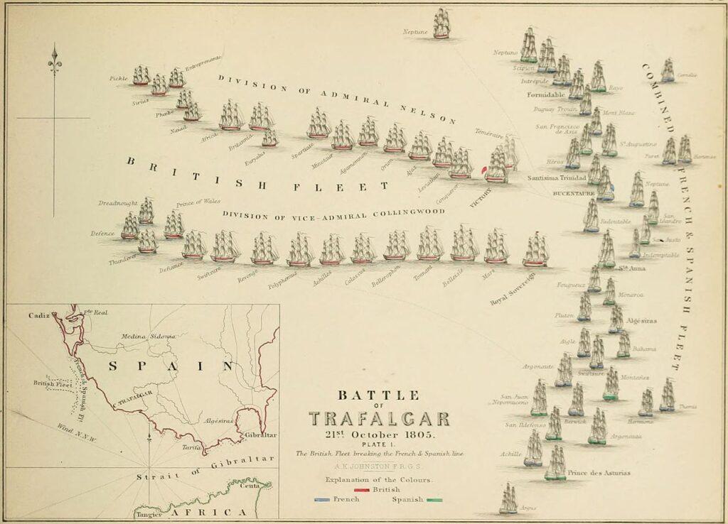 トラファルガーの海戦図