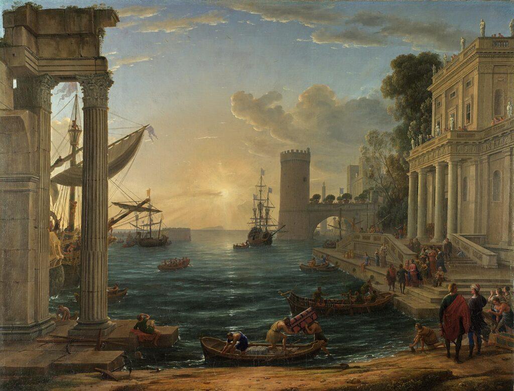 クロード・ロラン『シバの女王の乗船』(1648)